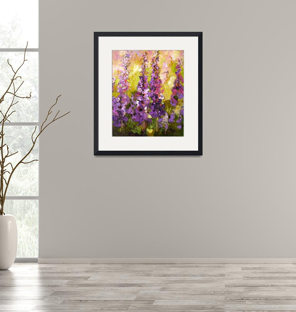 """""""Lupines Impressionist Flower Painting""""  (2008) by GinetteCallaway"""