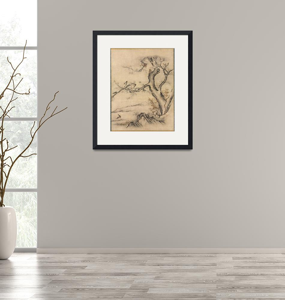 """""""Flowers and Birds Hanging Scroll by Kano Motonobu""""  by FineArtClassics"""