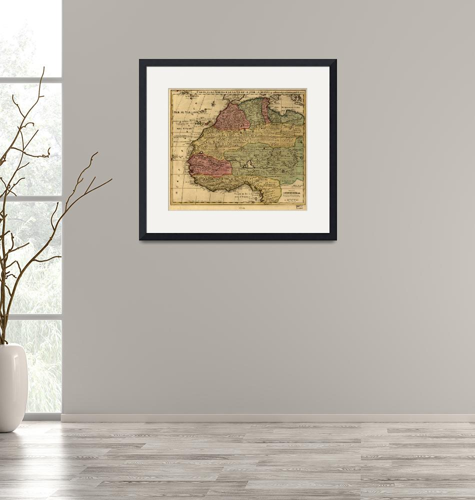 """""""Vintage Map of West Africa (1742)""""  by Alleycatshirts"""