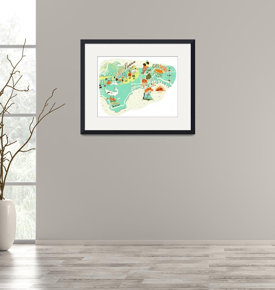 """""""Naples Map"""" by Migy"""