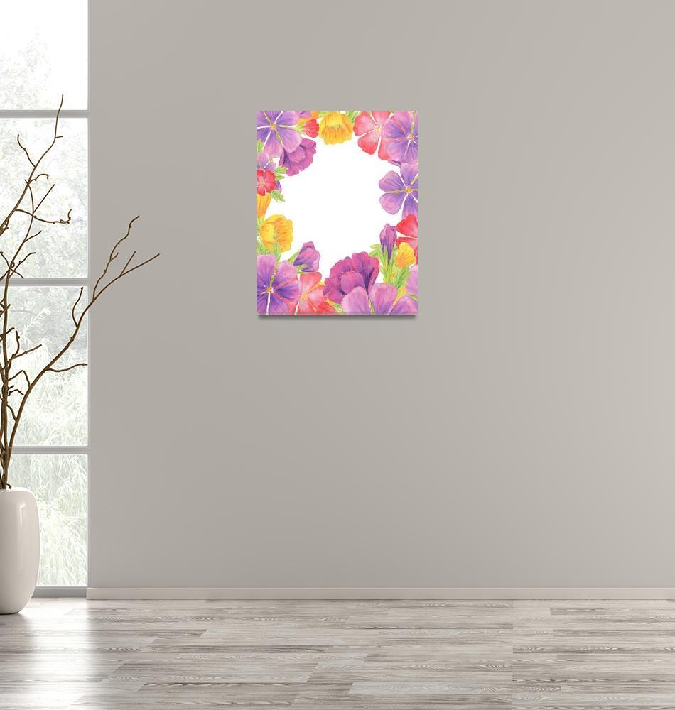 """Pink Yellow And Purple Flowers by Irina Sztukowski""  (2017) by IrinaSztukowski"