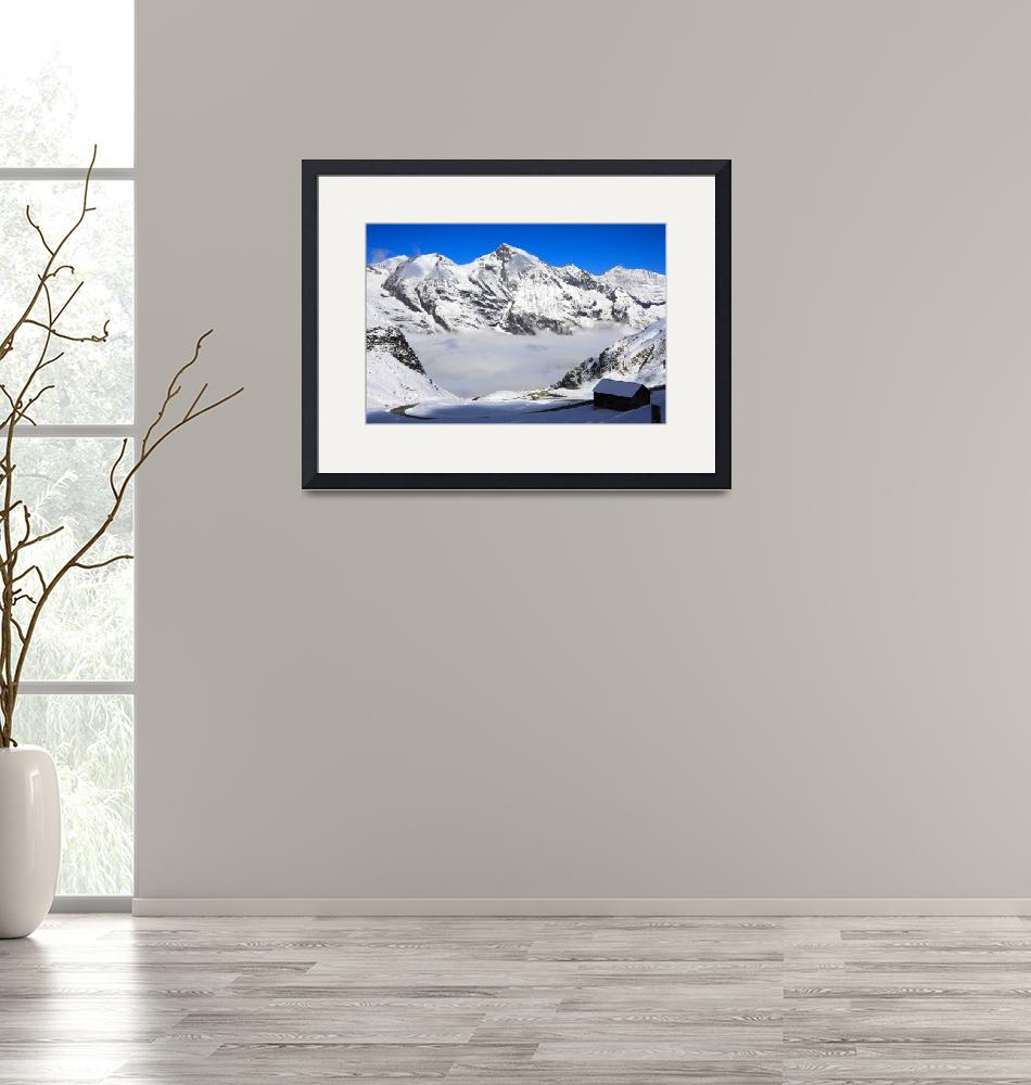 """Snowtime in the Austrian Mountains""  (2010) by SueLeonard"