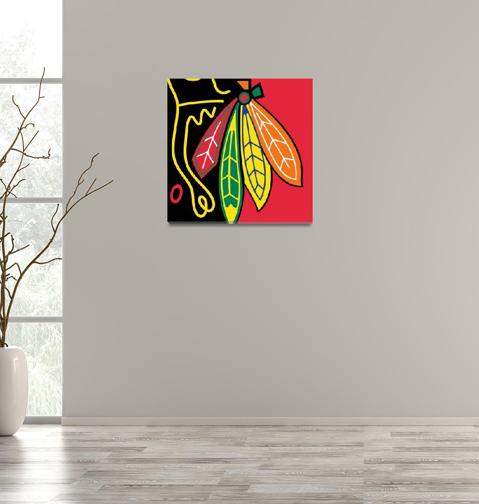 """Chicago Blackhawks""  by RubinoFineArt"