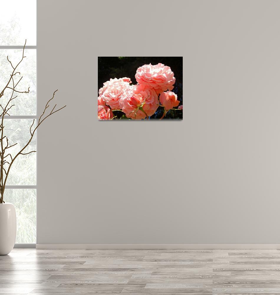 """Pink Roses Garden art prints Rose Flowers Baslee""  (2010) by BasleeTroutman"