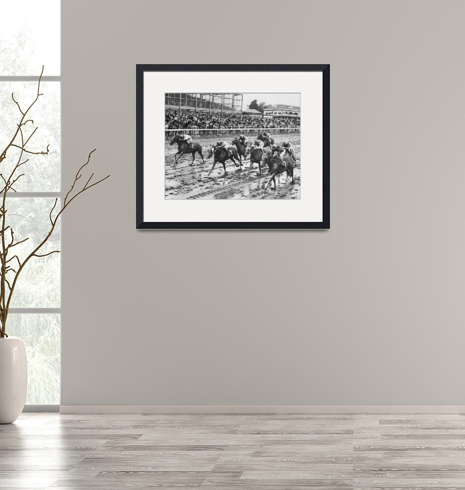 """""""Vintage Horse Racing Muddy Conditions""""  by RetroImagesArchive"""