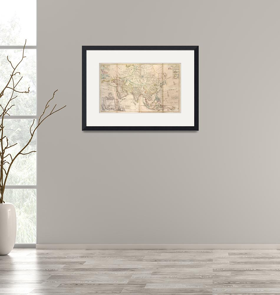 """""""Vintage Map of Asia (1736)""""  by Alleycatshirts"""
