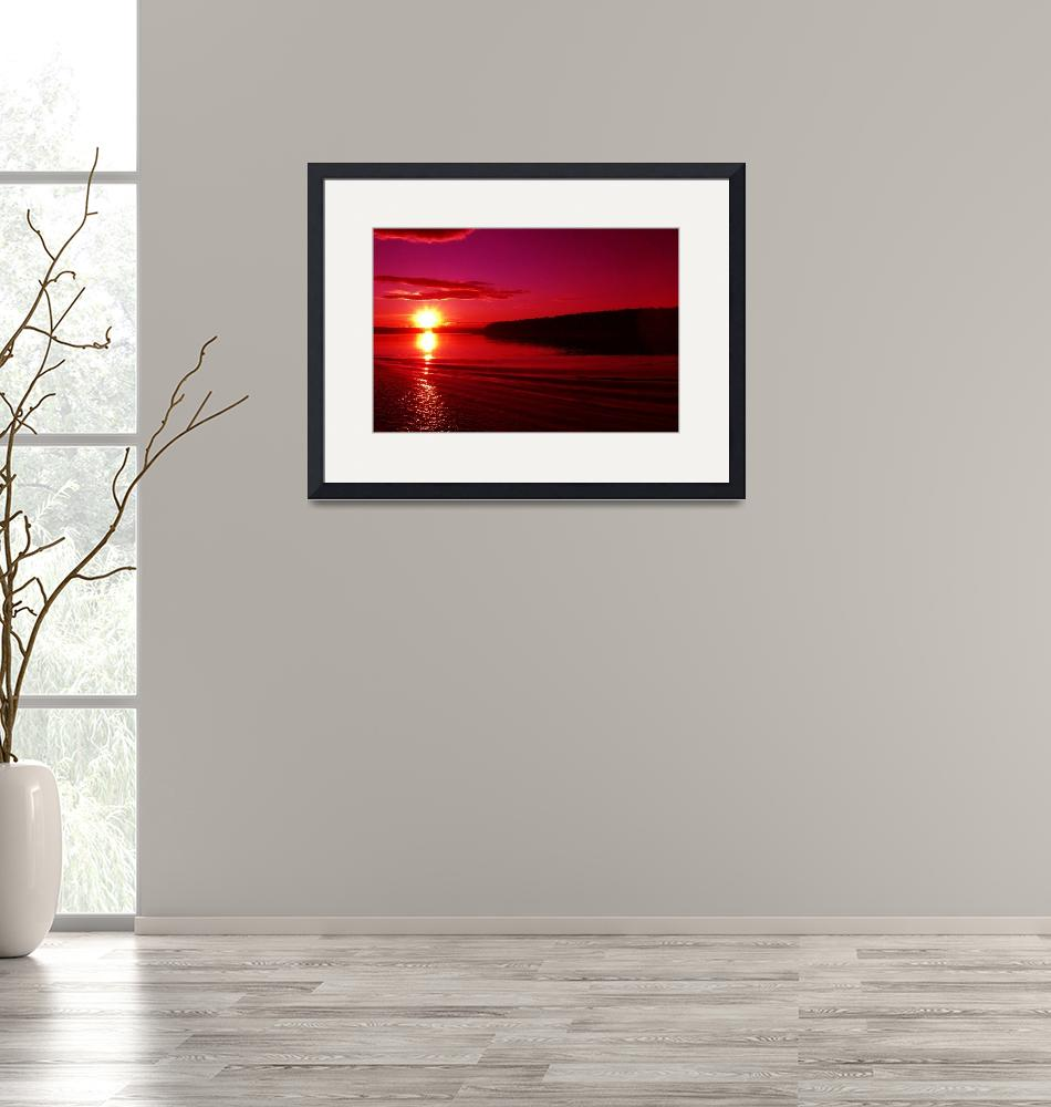 """""""Russian Red Sunset""""  (2007) by DonnaCorless"""