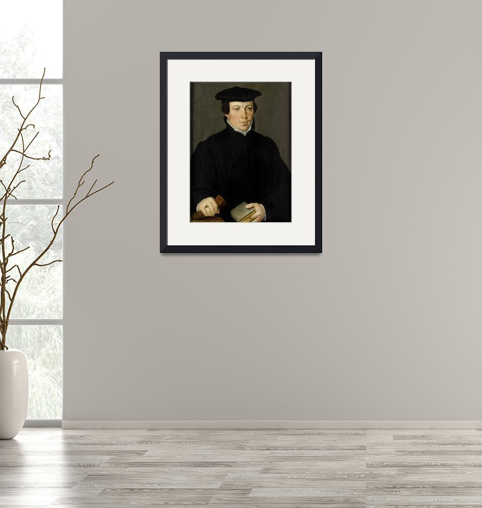 """""""Pieter Pourbus~Portrait of a Young Minister""""  by Old_master"""