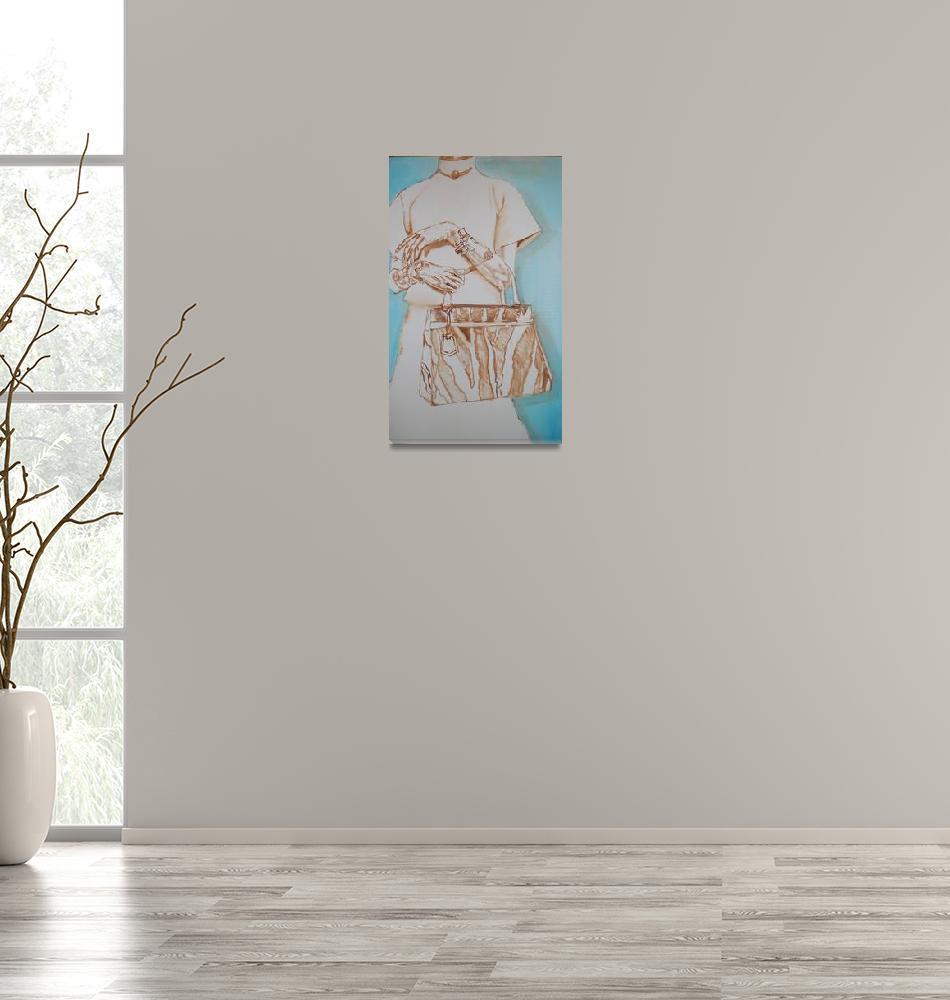 """Zebra Purse Study""  (2013) by anitamorrissey"