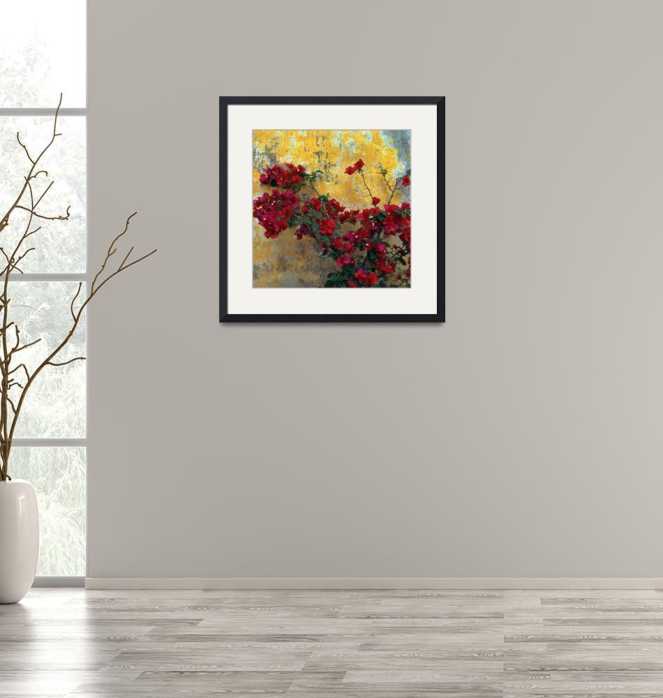 """""""Bougainvillea By Mission Wall""""  (2013) by Lawrence"""