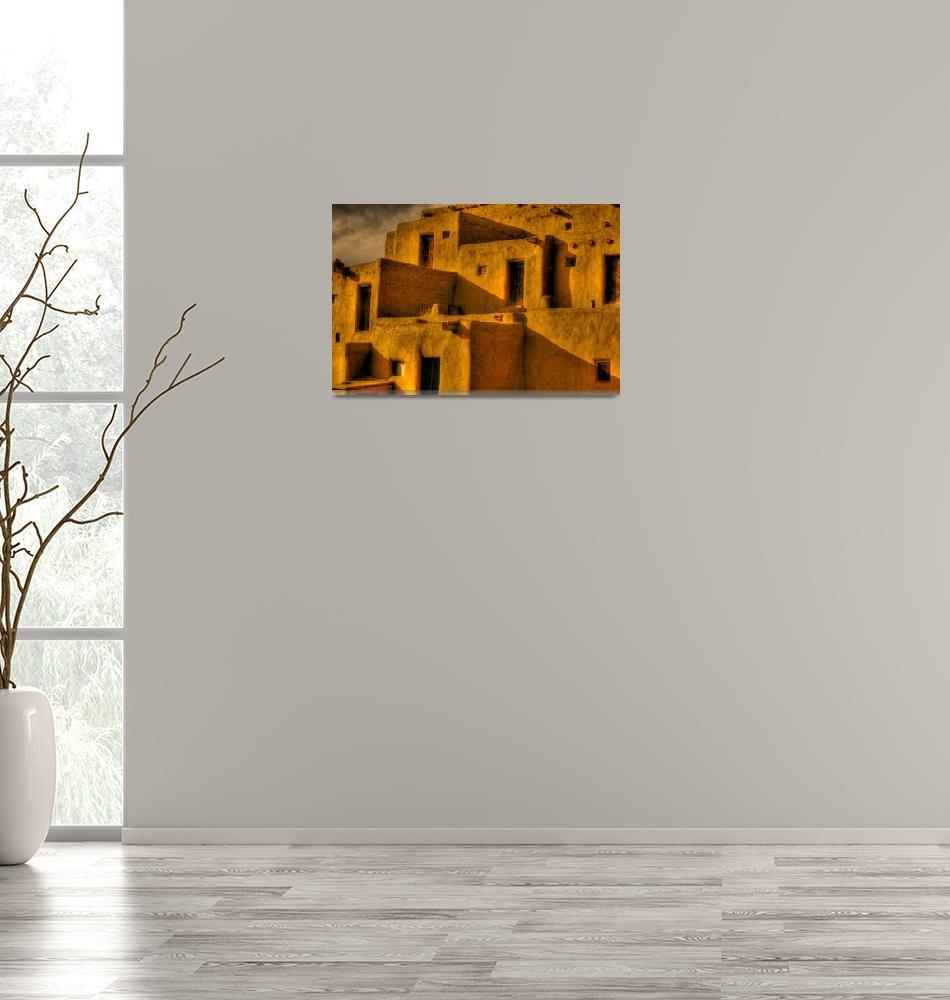 """Taos Pueblo Indian Village""  (2010) by mellow"