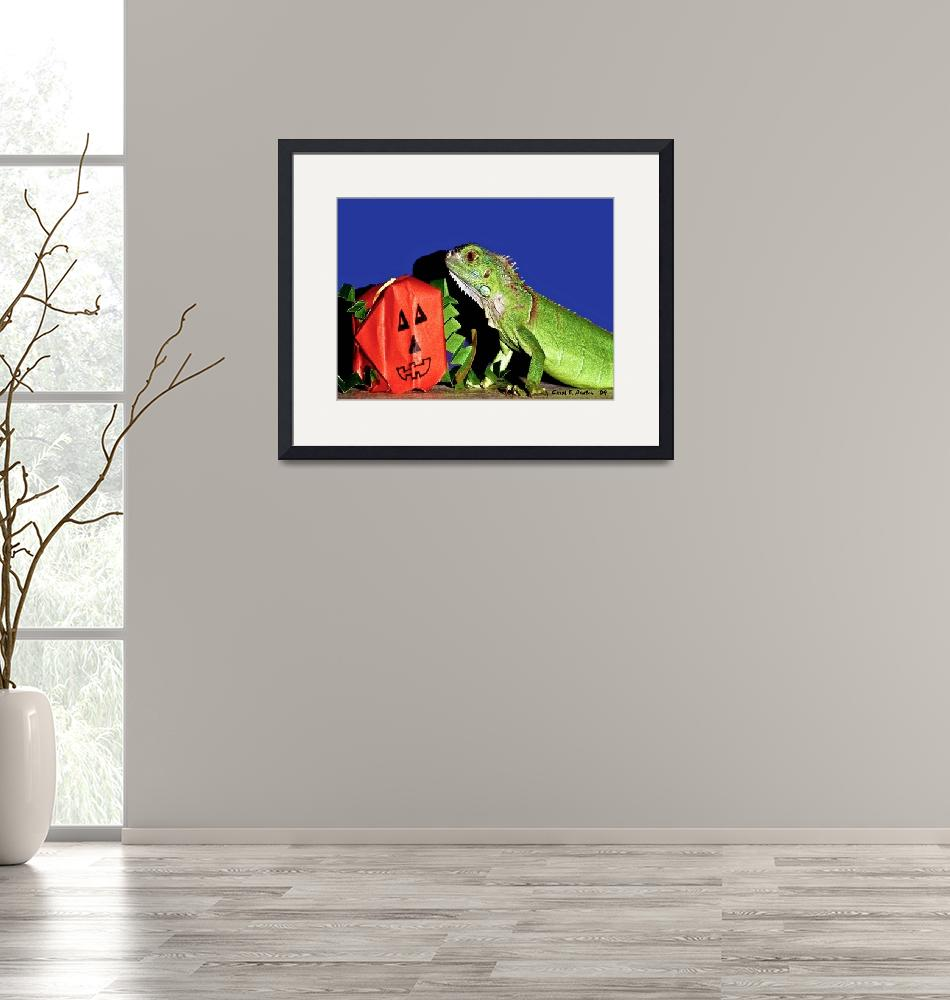 """""""Close Encounters with a Green Iguana""""  (2009) by PhotographsByCarolFAustin"""
