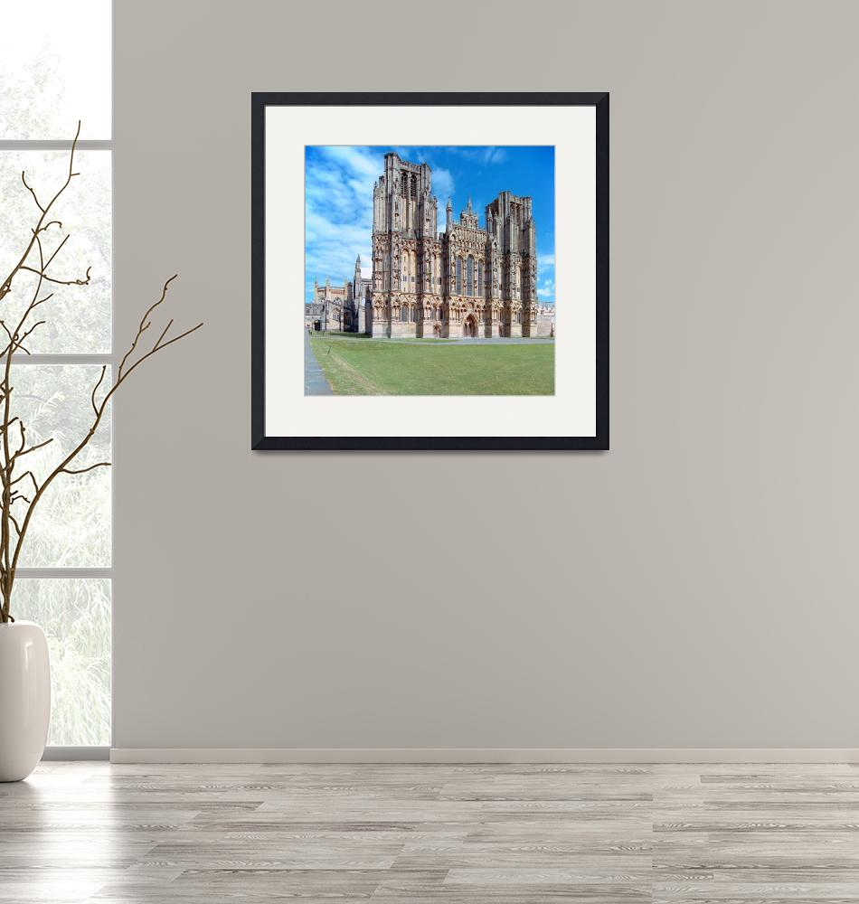 """""""Wells Cathedral, West Front""""  (1993) by PriscillaTurner"""