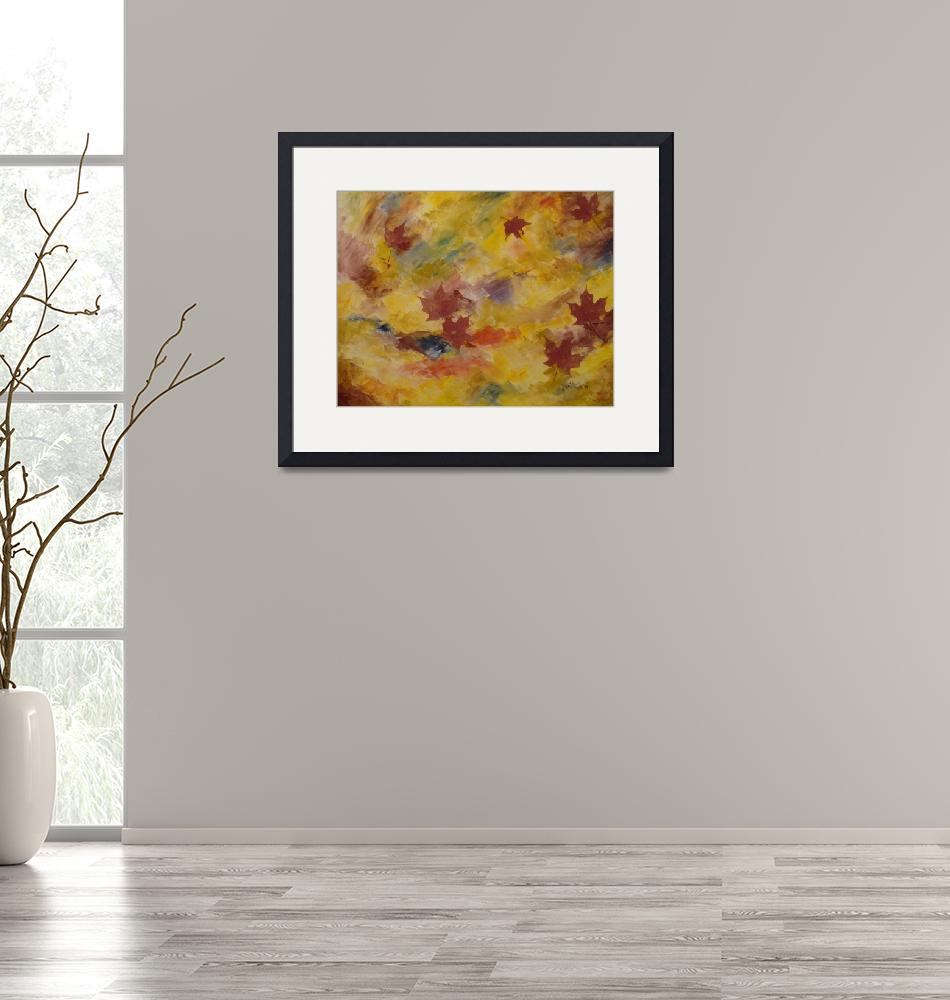"""""""Autumn Blowing""""  (2009) by paintingsbyashley"""