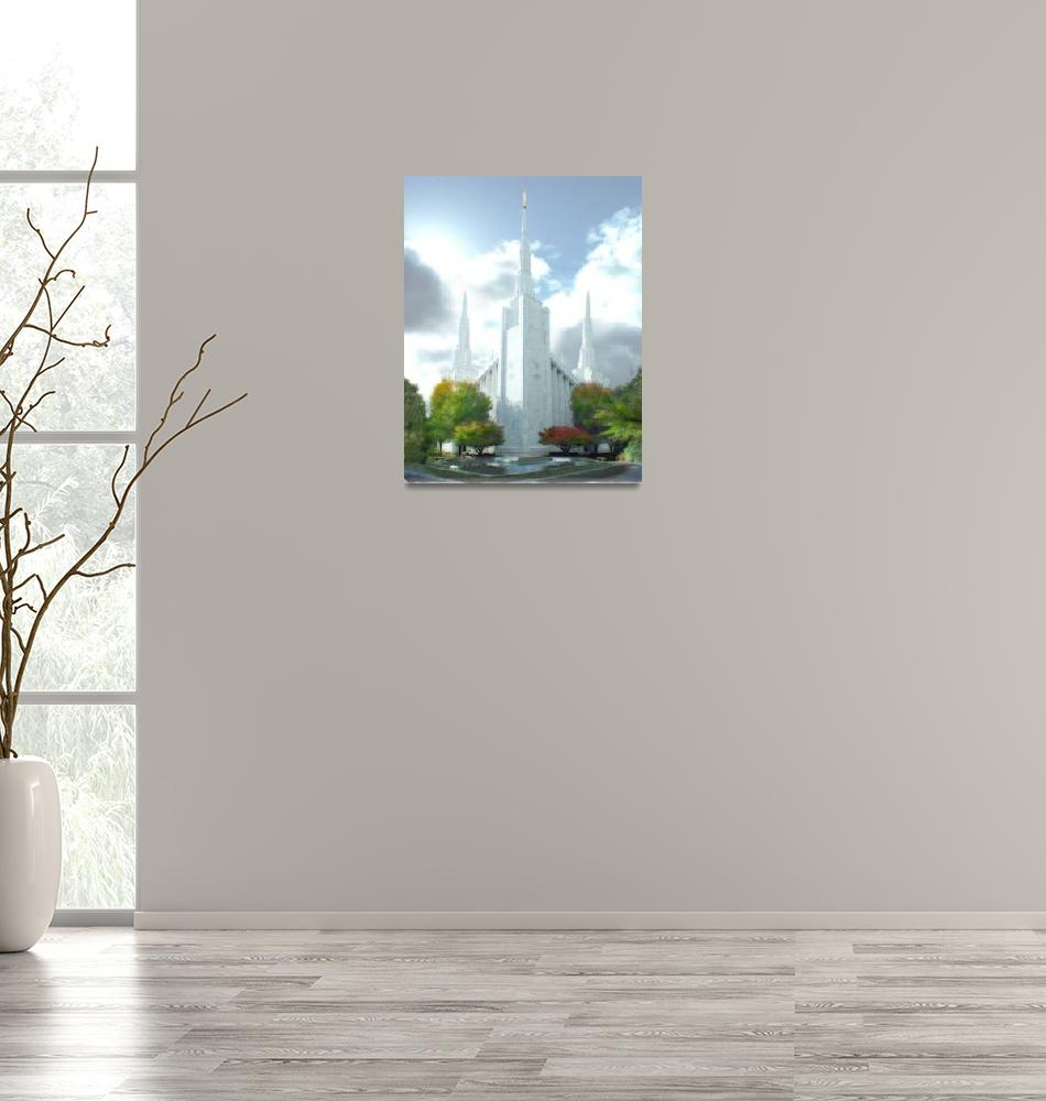 """Portland Temple"" by TerrySpringer"