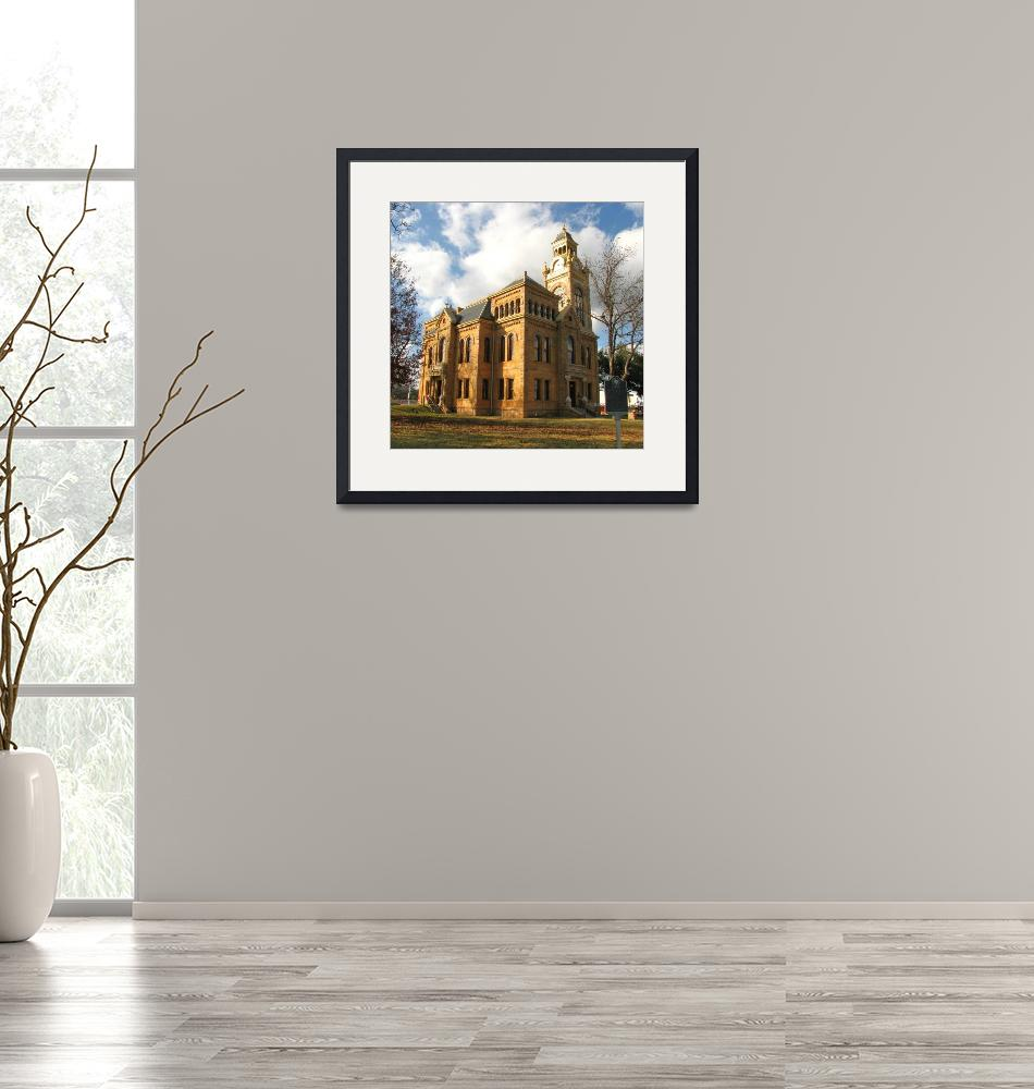 """""""Llano County Courthouse""""  (2009) by MarksClickArt"""