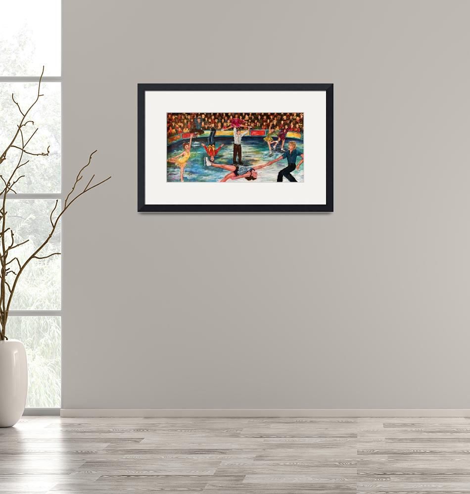 """""""Ice Skating Performance""""  (2010) by MeliArtGallery"""