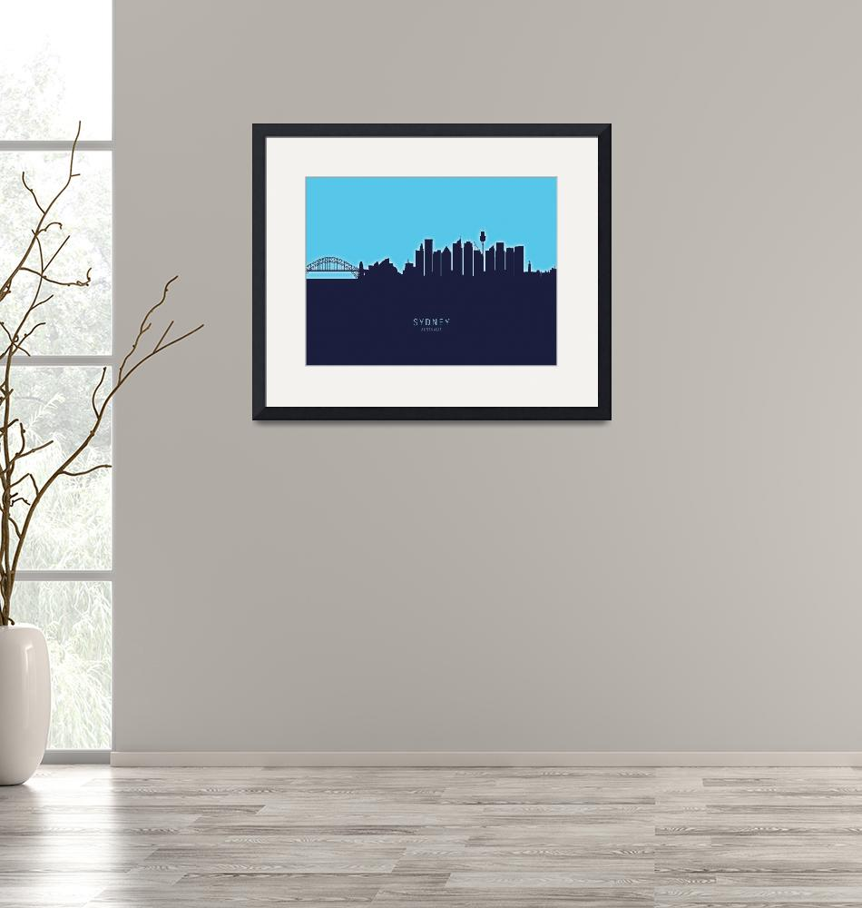 """Sydney Australia Skyline""  (2020) by ModernArtPrints"