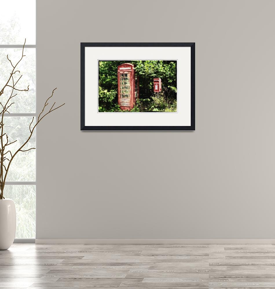 """""""Old Red Telephone Box Old Red Letter Box""""  (2013) by NatalieKinnear"""