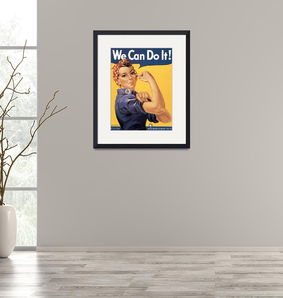 """""""Howard Miller We Can Do It Rosie the Riveter""""  by oldies"""
