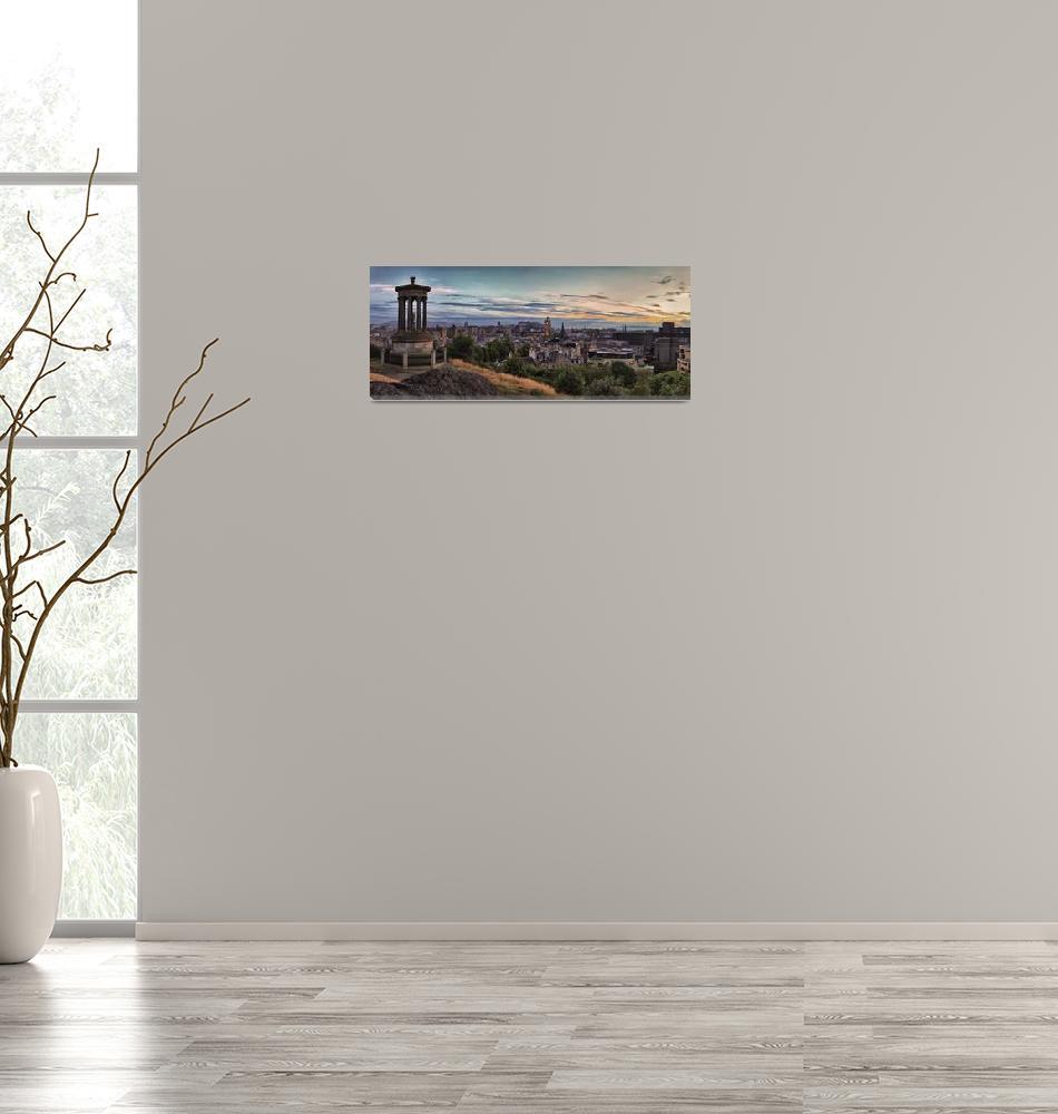 """Panoramic View Of the City of Edinburgh. Scotland""  (2013) by MilesGray"