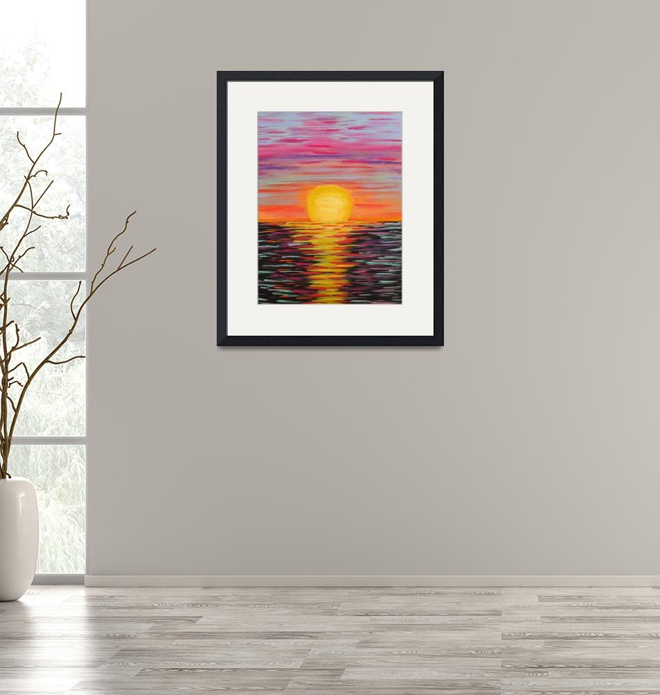 """""""Sunset""""  (2018) by MelanieLutes"""