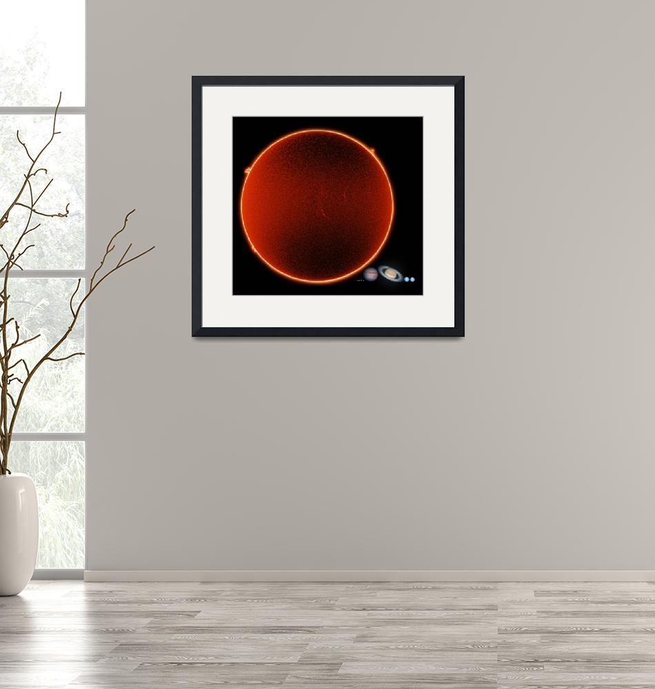 """""""Solar System to Scale""""  by cosmic_background"""