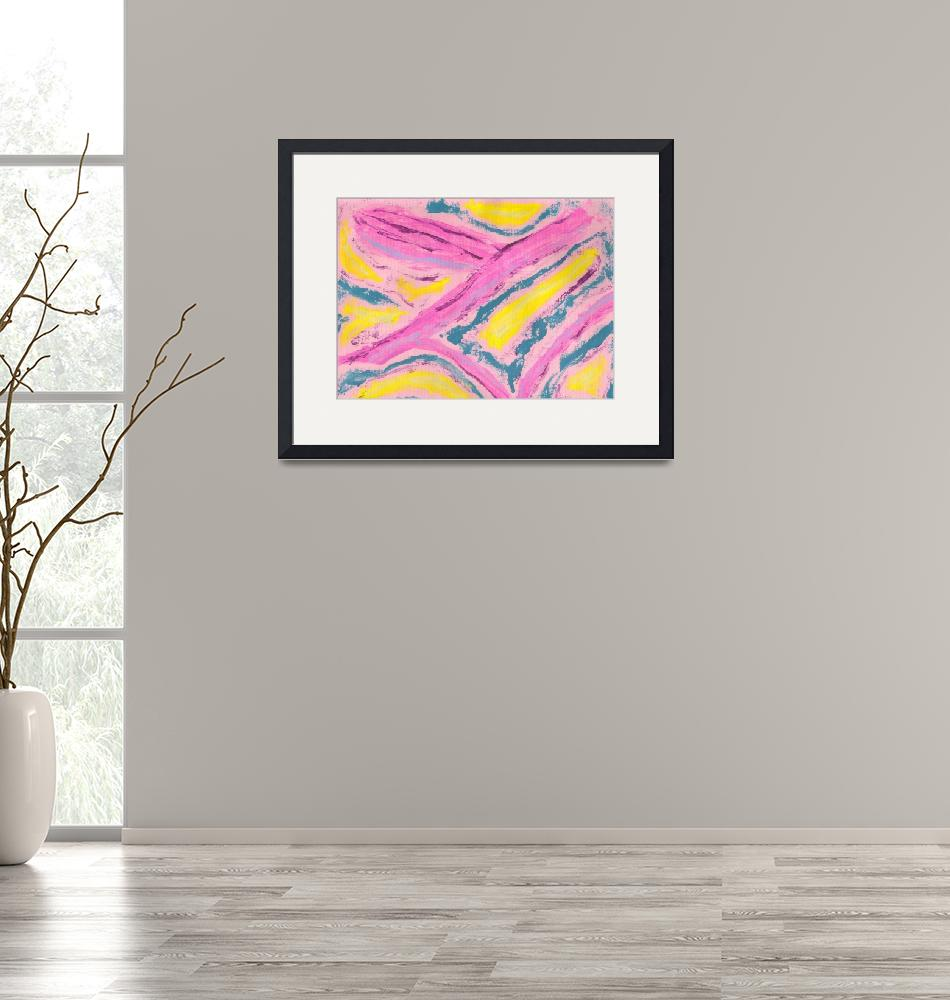"""""""Abstract in Pink Yellow Green""""  (2008) by spiritualartist"""