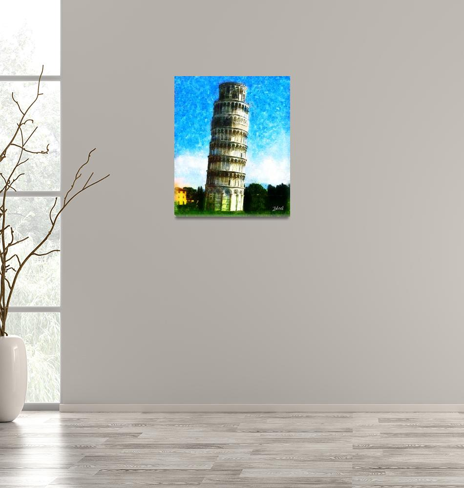 """""""THE TOWER OF PISA ITALY""""  (2010) by Zaboni"""