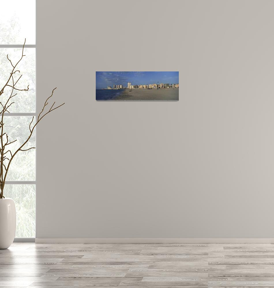 """""""Beach with buildings in background""""  by Panoramic_Images"""