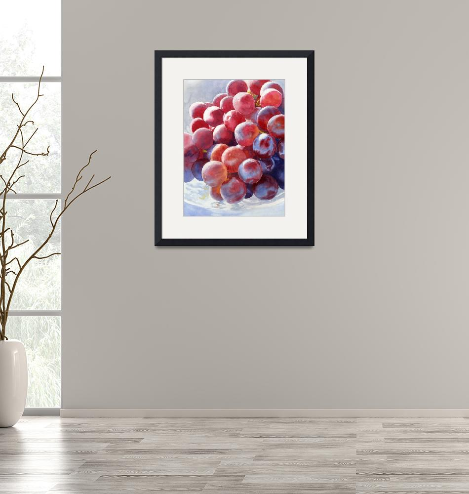"""""""Red Grape Essence""""  (2010) by Pacific-NW-Watercolors"""