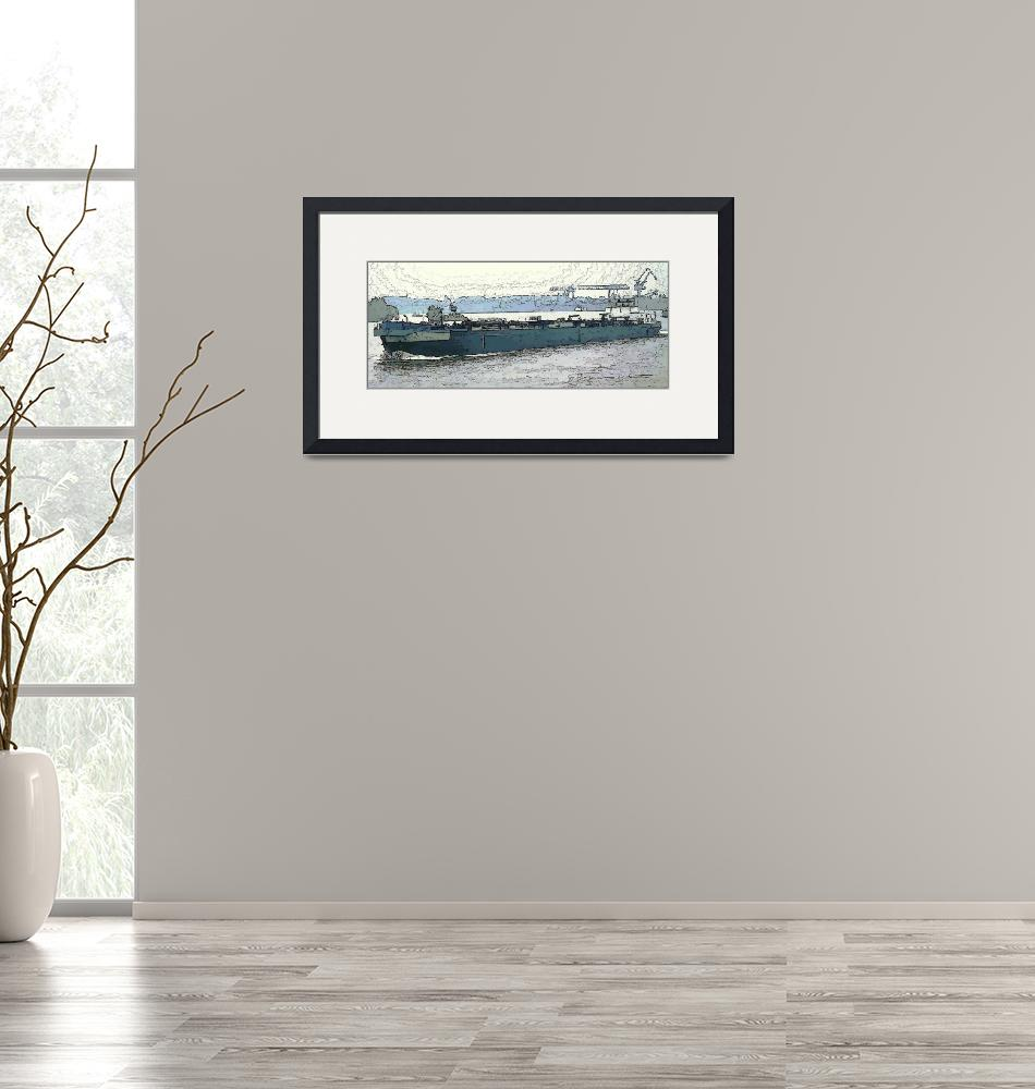 """Barge on the Rhine3""  (2009) by billbarber"