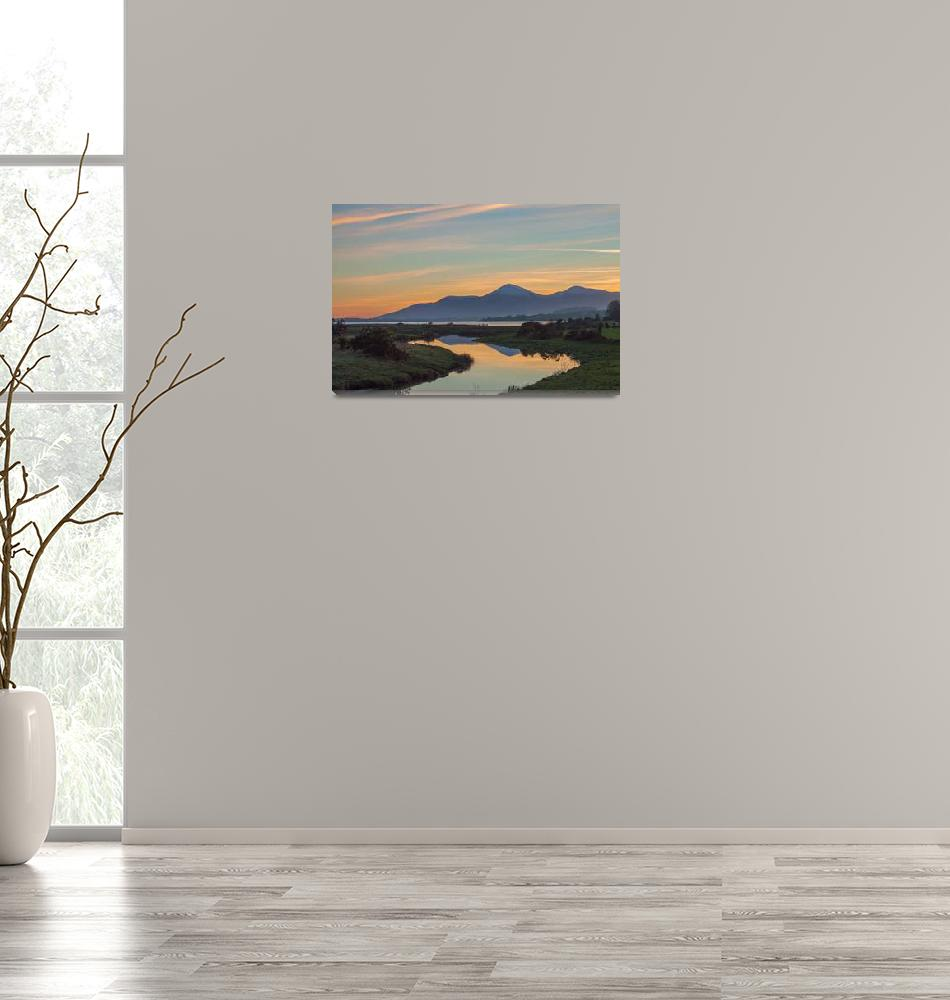 """""""Winter Sunset Over Mourne Mountains""""  (2015) by JohnWilliams"""