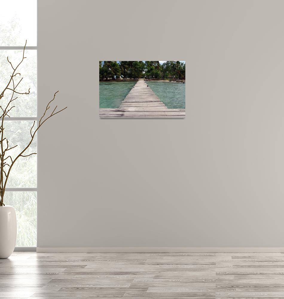 """island dock""  (2012) by erinlanzendorfer"