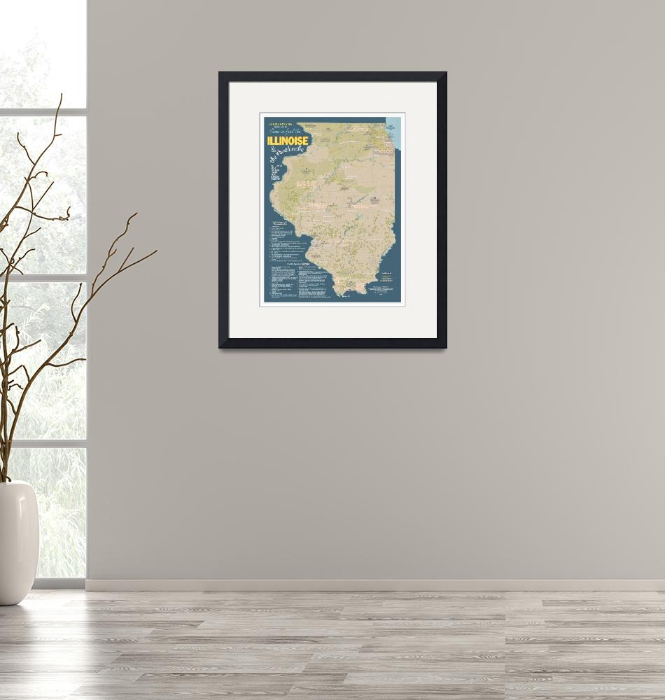"""""""The Geography of Illinoise""""  (2012) by jonahadkins"""