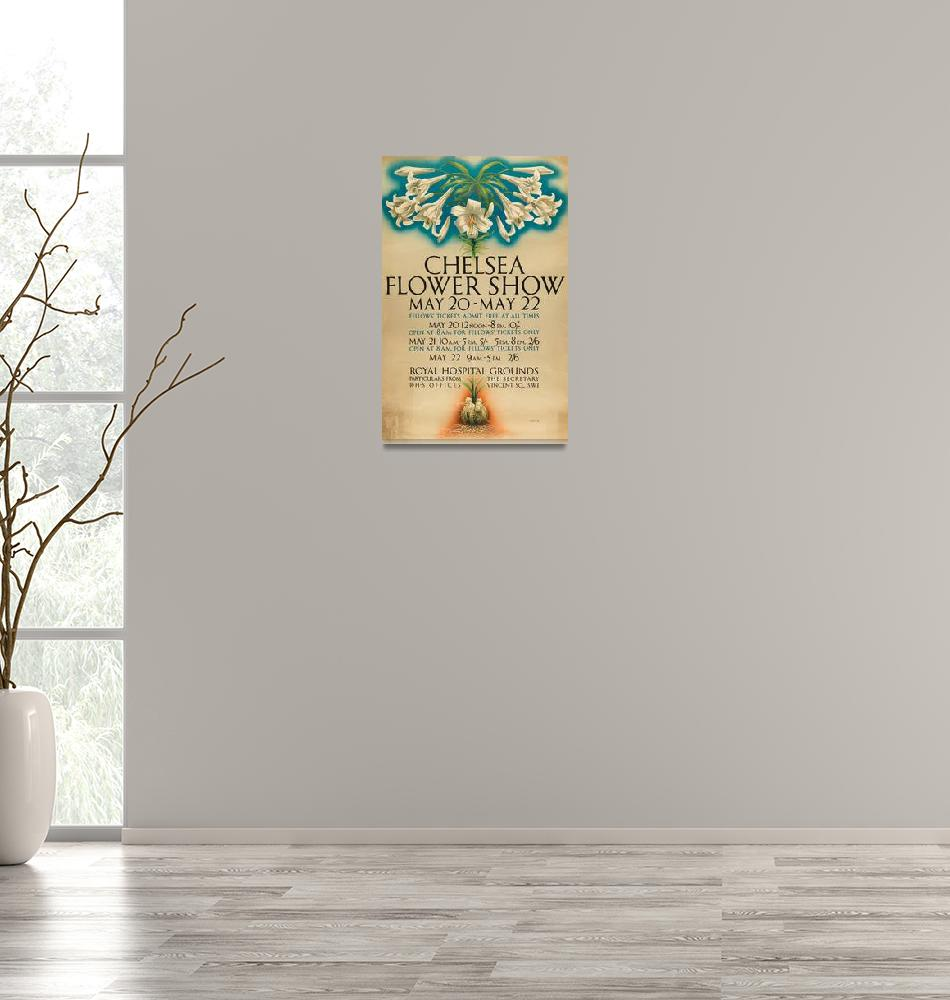 """""""Charles Shepherd~RHS Chelsea Flower Show poster""""  by Old_master"""