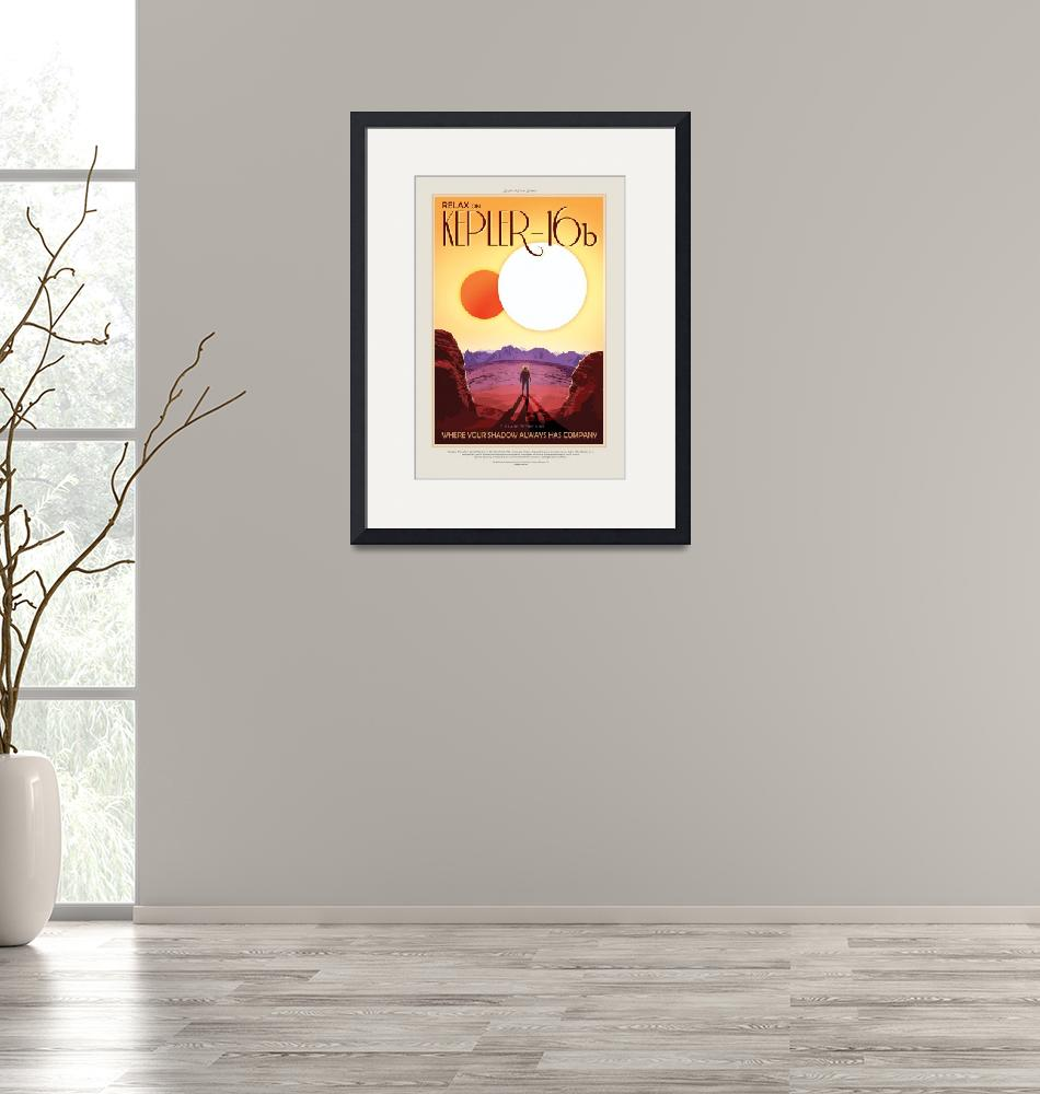 """""""NASA Kepler-16b Space Travel Poster""""  by FineArtClassics"""