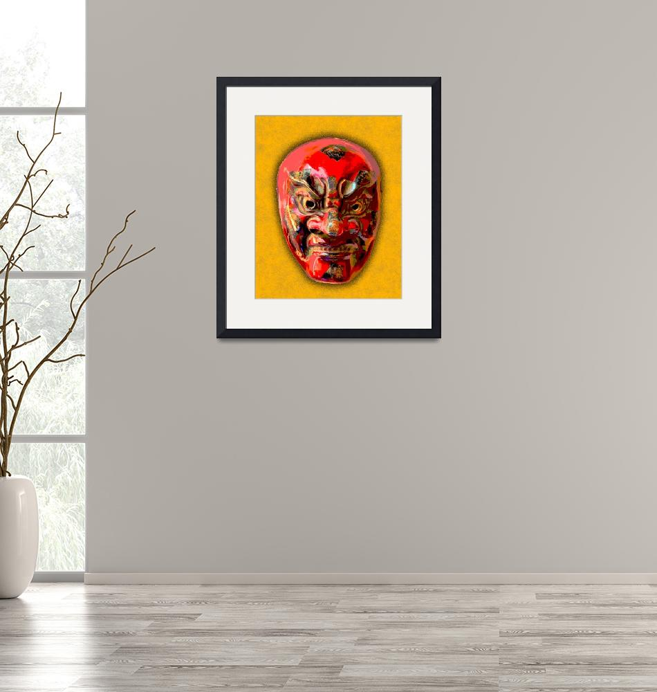 """""""Noh Theater Mask I""""  (2010) by bobb"""