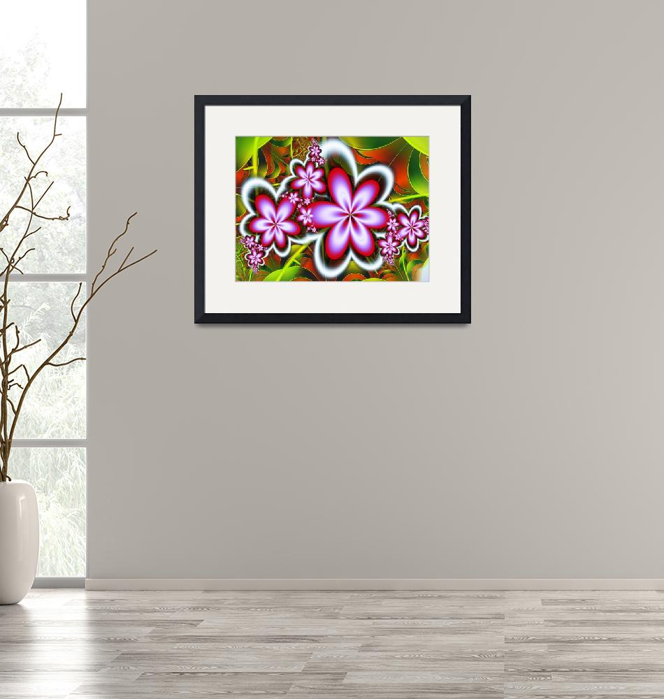 """""""Pink flowers fractal image""""  (2014) by igorsingallery"""