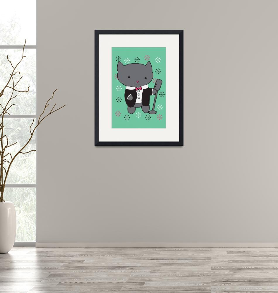 """""""Lounge Singer Cat""""  (2013) by ValeriesGallery"""