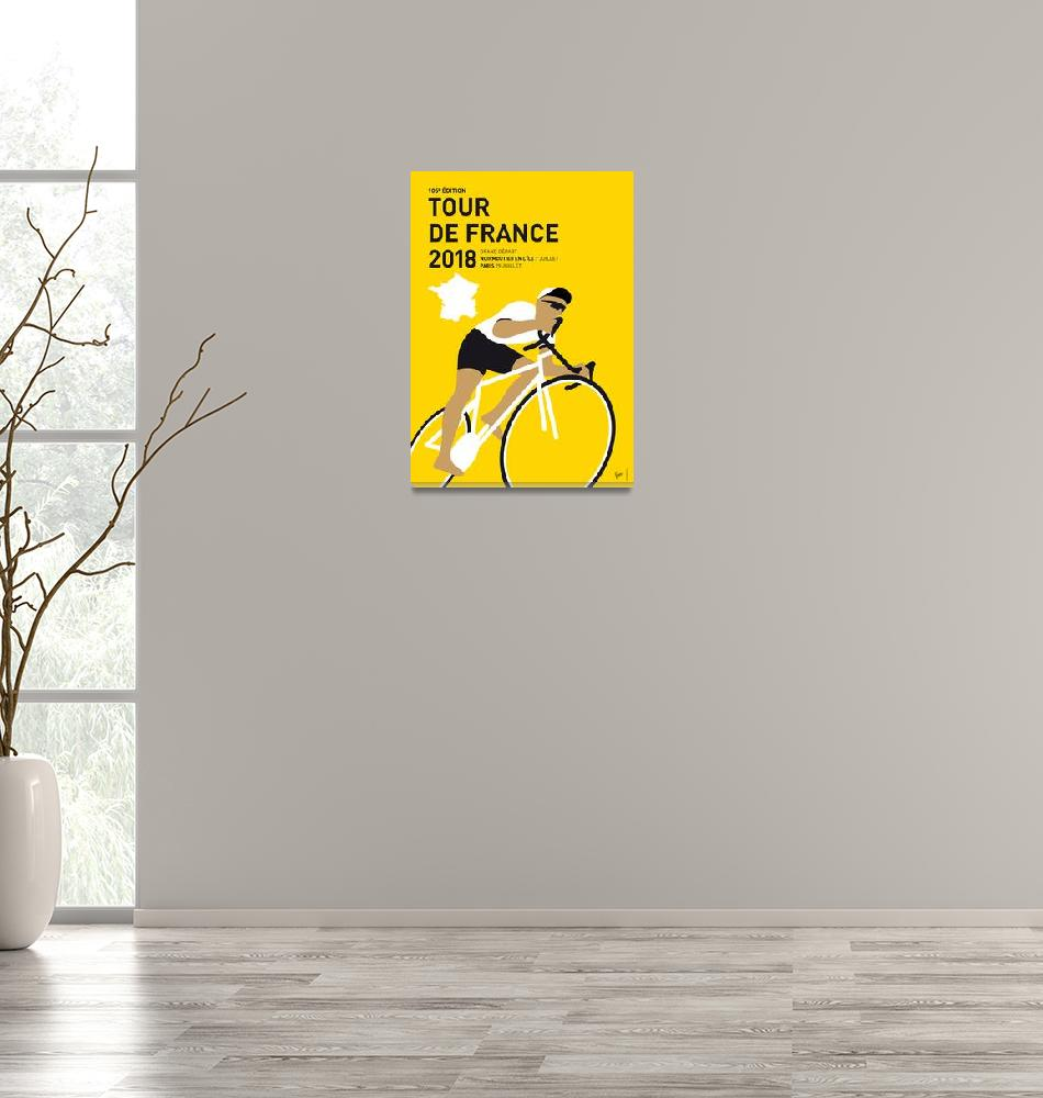 """""""MY TOUR DE FRANCE MINIMAL POSTER 2018""""  by Chungkong"""