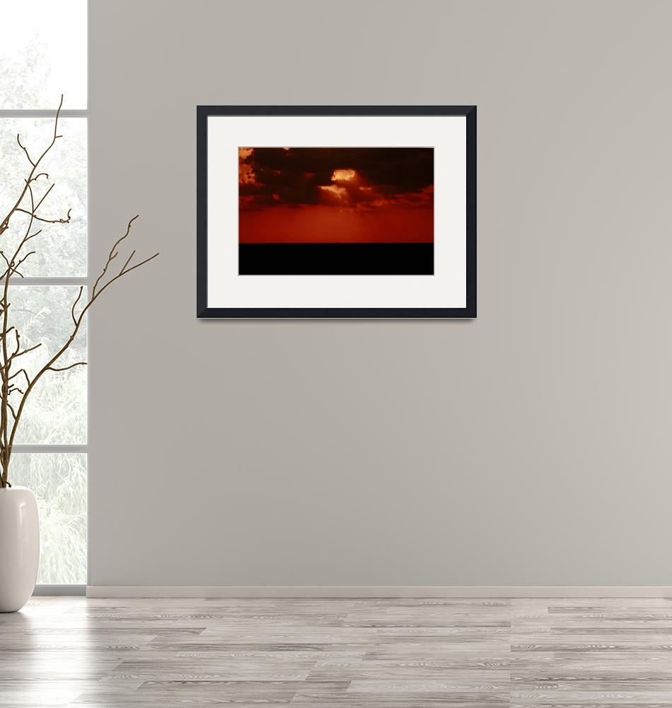 """""""My Eyes Burn With the Memory of This Red Sunset""""  (2010) by rayjacque"""