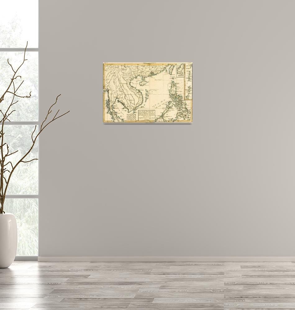 """""""Map of Asia""""  by fineartmasters"""