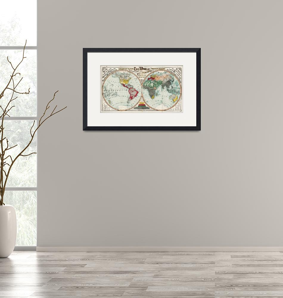 """""""Missionary Map of the World (1902)""""  by ArtHistory"""