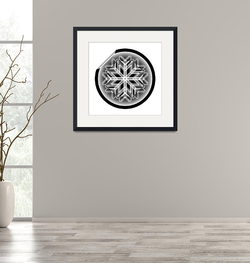 """""""snow flake sticker isolated on white background 14""""  by robertosch"""