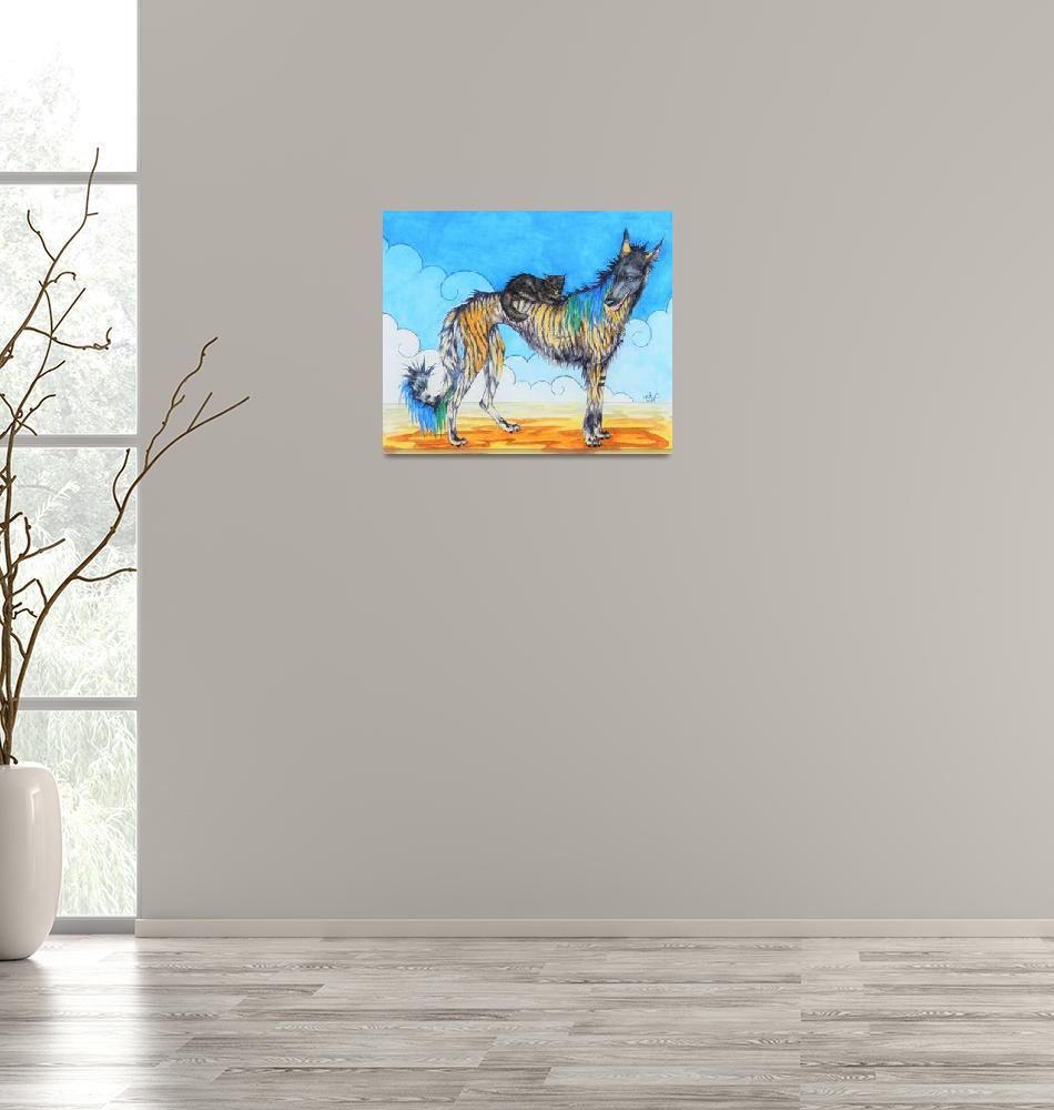 """Sparrow + the Shadowcat""  (2016) by unicorn-crossing"