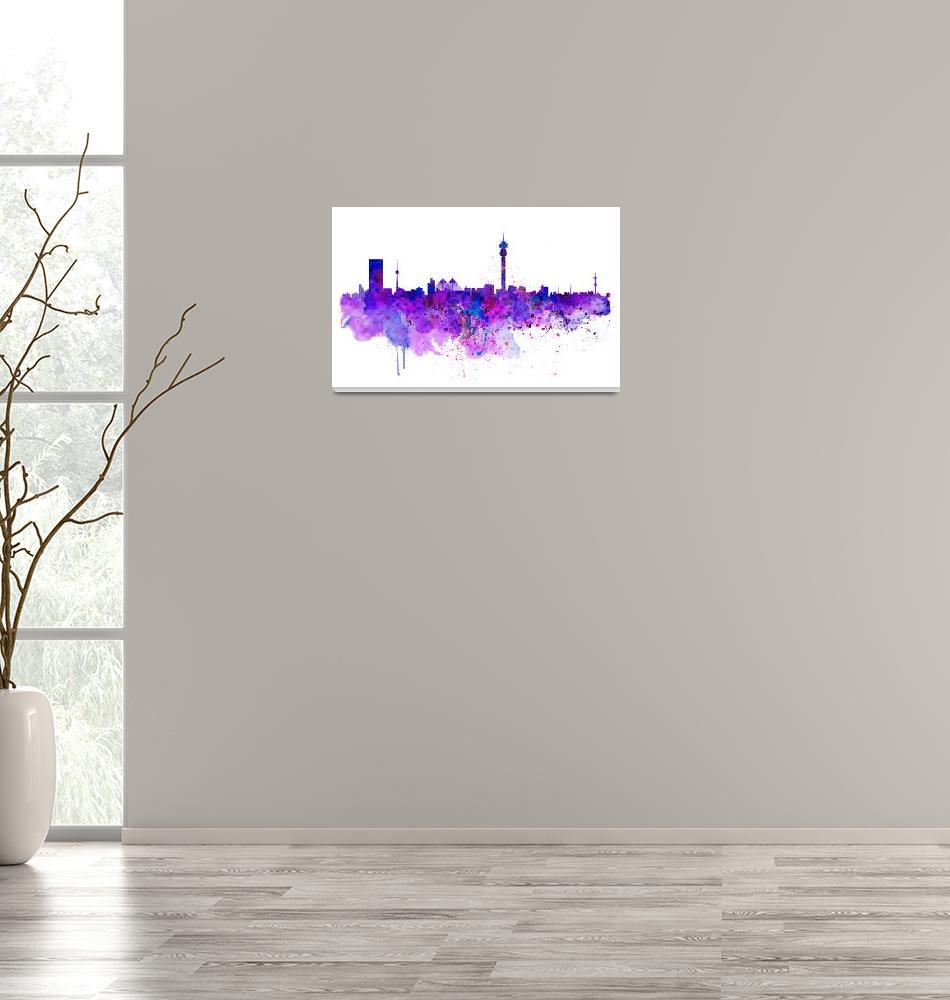 """Johannesburg Skyline""  (2015) by MarianVoicu"