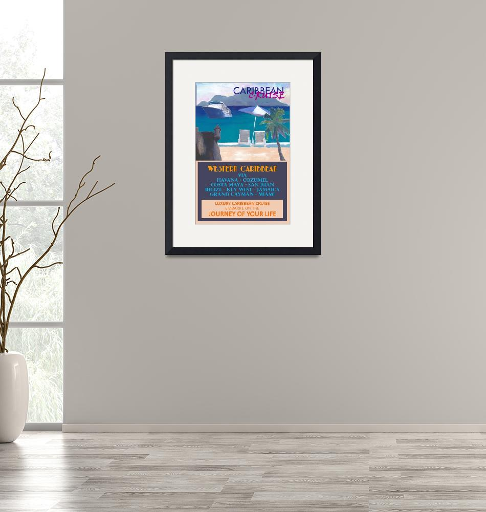 """""""Western Caribbean Cruise Retro Travel Poster""""  (2020) by arthop77"""
