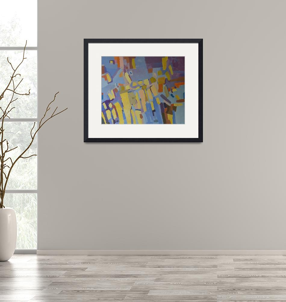 """""""Abstract Wall Art Acrylic Painting on canvas""""  (2019) by Maggy"""