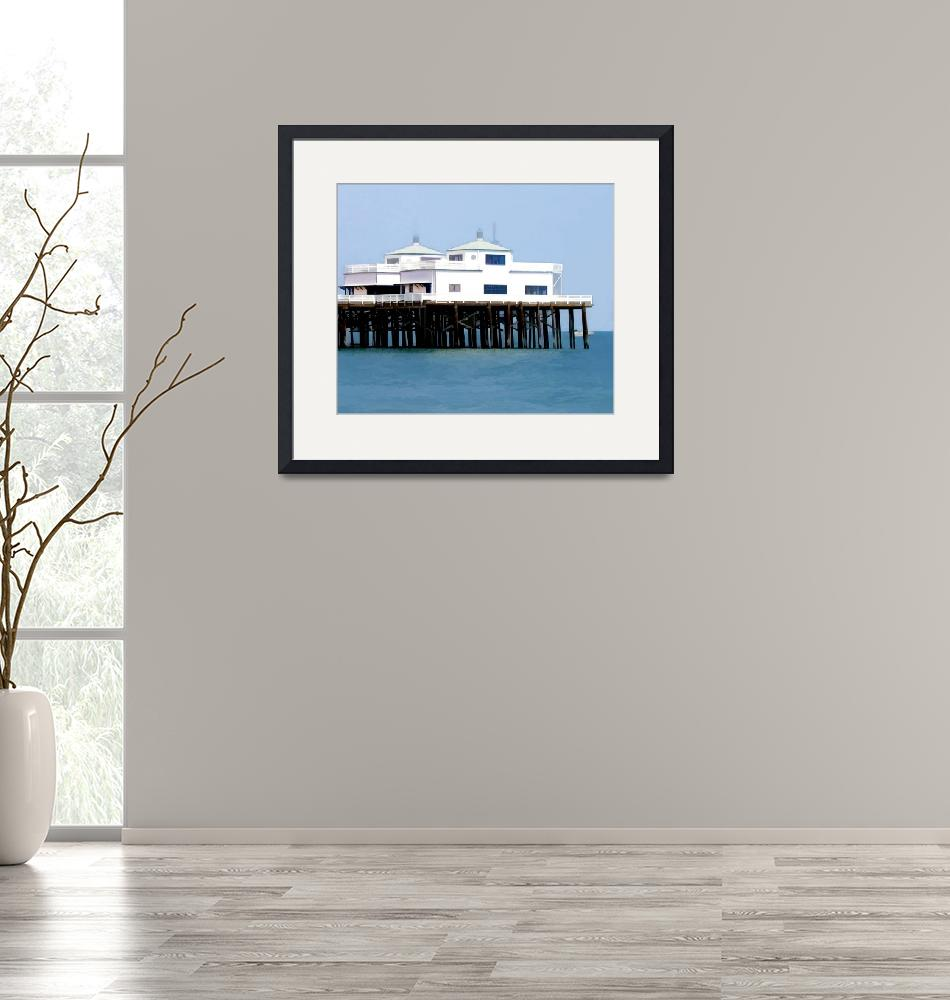 """""""Abstract Malibu Pier""""  by ElainePlesser"""
